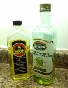 cod liver oil and grapeseed oil