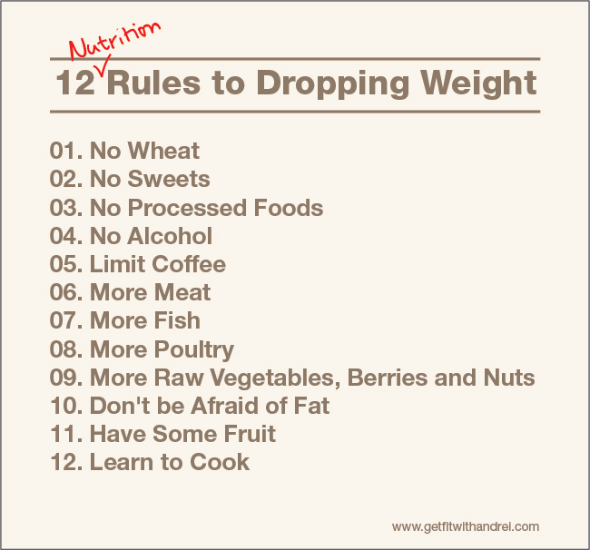 12 Rules to Dropping Weight