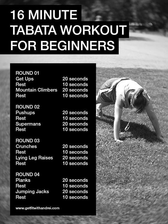 16 Minute Tabata Workout for Beginners | Trainer Andrei
