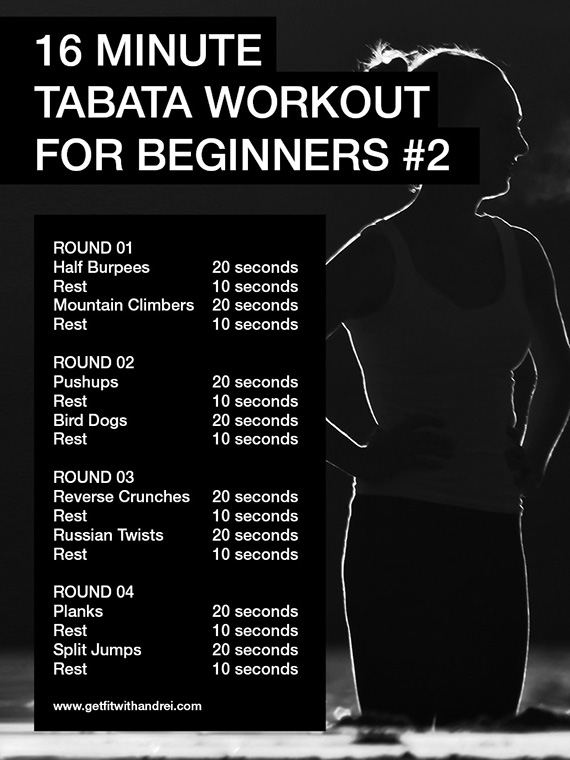 another 16 minute tabata workout for beginners trainer andrei. Black Bedroom Furniture Sets. Home Design Ideas