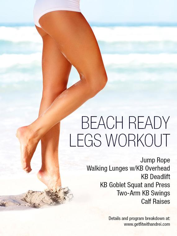 beach ready legs workout