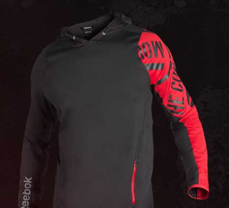 reebok live with fire hoodie
